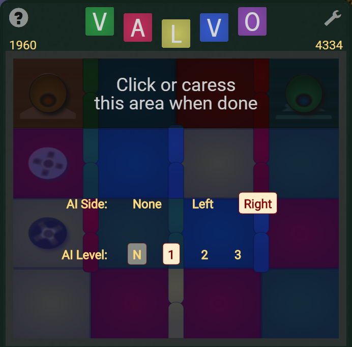 Configuring the AI in Valvo